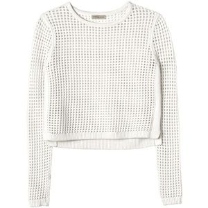 Rebecca Taylor Mesh Cropped Pullover XS